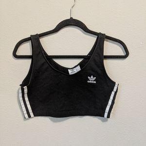 Adidas Black Cropped Top